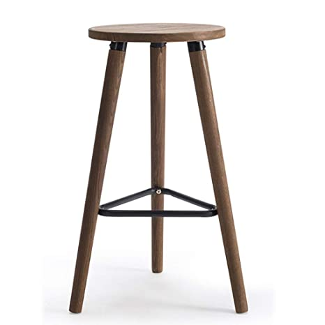 Collections Of Wooden High Stools For Kitchen
