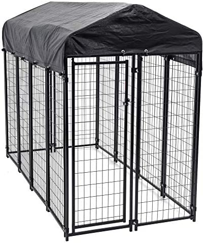 Lucky Dog – Heavy Duty Welded Wire Dog Kennel with Cover and Frame
