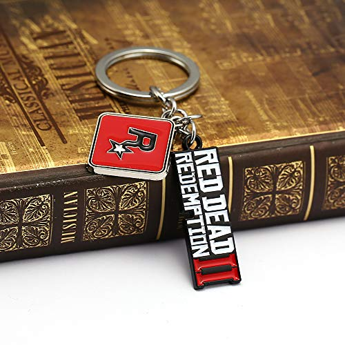 Amazon.com: Mct12 - Red Dead II Redemption Keychain enamel ...