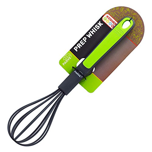 Parve Green Kitchen Whisk - Easy Grip Silicone Whisker for Whipping and Beating Eggs, Milk, Cream and More - Color Coded Kitchen Tools by The Kosher Cook