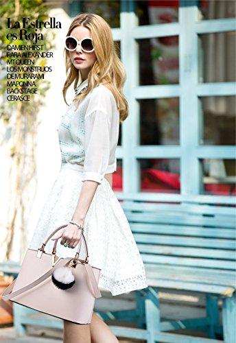 bandoulière printemps Yellow de la sac tendance femmes à nouvelle de les cr¨¦meux Nicole sac minimaliste mode main pour casual amp;Doris Blanc à fqp5wnxT