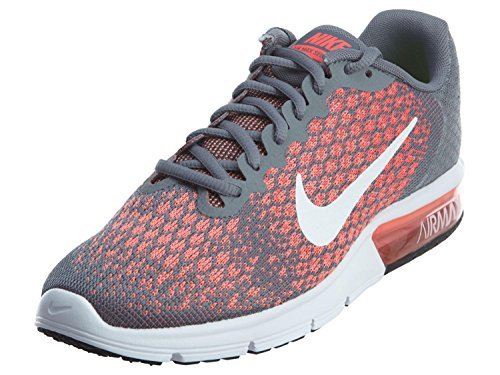 brand new 50086 ce743 Galleon - Nike Womens Air Max Sequent 2 Running Shoes (8.5 B(M) US, Cool  Grey White Hot Punch)