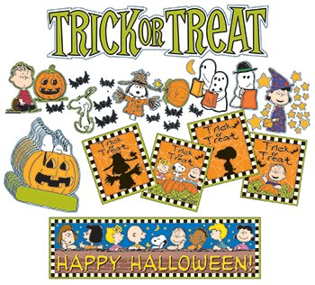 Halloween Character Cutouts (Eureka Peanuts Halloween Mini Bulletin Board Sets)
