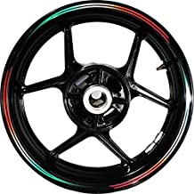 Stickman Pro Vector FG Red White Green 17 inch Rim Motorcycle Sticker Wheel Decal Stripe Bubble Free