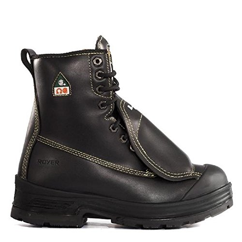 7626fa9b4e682 ROYER 10-5301 CSA Steel Toe Composite Plate Metatarsal Safety Boots (10)  Black
