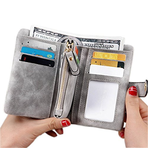 for women Ladies Wristlet Clutch Large Capacity Zipper Purse Card Holder Organizer ()