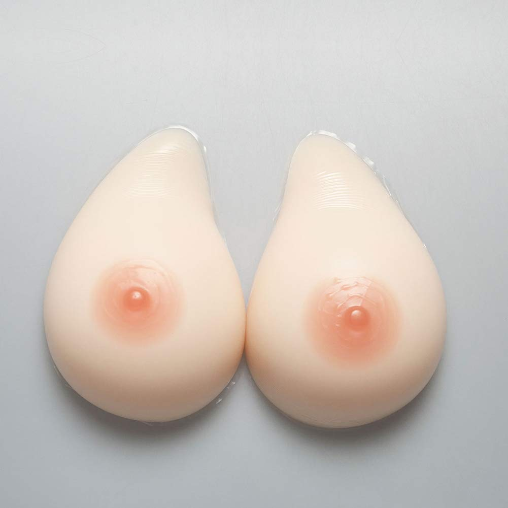 Silicone Breast Forms Helix Shape Silicone Enhancers Mastectomy Cup A-Cup G,1,800G/L/Cupc/6.7 * 4.3 * 2.2Inch