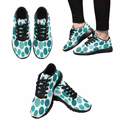 Interestprint Femmes Jogging Running Sneaker Léger Aller Facile Confort De Marche Sport Chaussures De Course Polka Dot Motif Multi 1