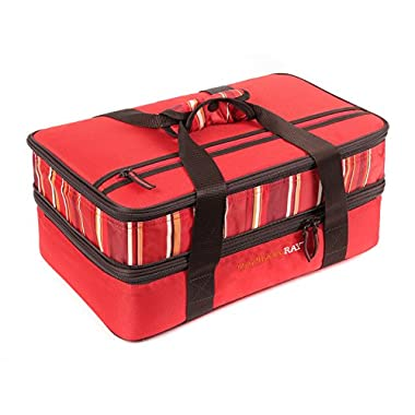 Rachael Ray Expandable Lasagna Lugger, Red