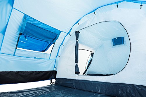 51XFoTVOePL CampFeuer Tunnelzelt für 4 Personen Super+   Großes Familienzelt mit 2 Eingängen und 3.000 mm Wassersäule   Gruppenzelt…