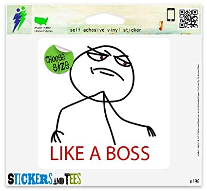 Amazon Com Like A Boss Meme Funny Vinyl Car Bumper Window