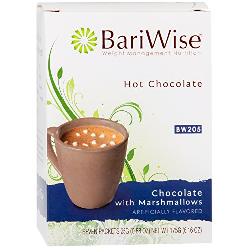 BariWise High Protein Hot Cocoa - Instant Low-Carb, Low Calorie Hot Chocolate Mix with 15g Protein - Chocolate Marshmallows (7 Count)