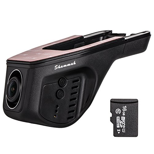 Dvr Hidden Video - Dash Cam with wifi with 16GB Card FHD 1080p Car Recorder Hidden HD Car DVR Dash Cam with OBD WIFI Dash Camera G-Sensor 170 Degree Wide Angle Night Vision WDR Loop Recording Adjustable Lens