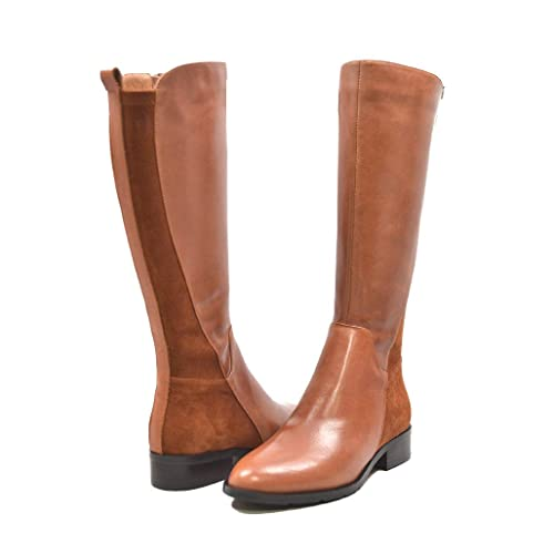 b269b672acc SoleMani Women's X-Slim Collection Trendy Leather/Suede Boots