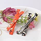 Pyrsun(TM) Korean Hairgrips Girl Strip Hairpins Floral Bowkont Hair Accessories For Dress Women Sweet Headband Fabric Hairclips