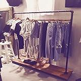 Industrial Pipe Clothing Rack Garment Rack Pipeline Vintage Rolling Rack with Wheels Ballet Clothing Rack