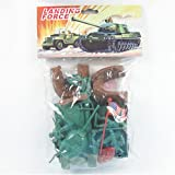 : Plastic Green Army Men Soldier 23 piece Playset with M38 Tank, MB Jeep, Bunkers and Tank Traps!