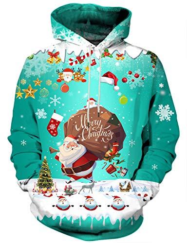 Syaimn Unisex 3D Printed Fashion Casual Personalized Hoodies Sweatshirts Small