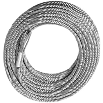 Amazon.com: WINCH CABLE - GALVANIZED - 3/8 inch X 100 ft (14,400lb ...
