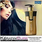 Keratin Cure 0% Formaldehyde Bio-Brazilian Smoothing Hair Treatment Gold & Honey Repair-Straightener Blowout Blow-Dry Professional 300ml 10 fl oz