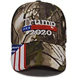 Besti Donald Trump 2020 Keep America Great Cap Adjustable Baseball Hat with USA Flag - Breathable Eyelets