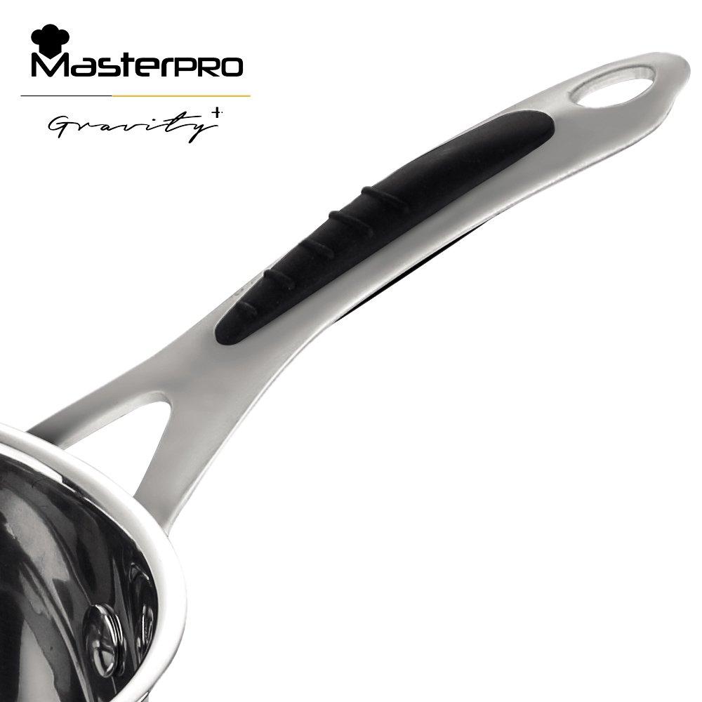 MasterPro Cazo 16x7.5 cm Acero Inoxidable Apta para inducción Gravity, Plateado, 16 cm: Amazon.es: Hogar