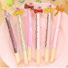 Schoolsupply 5x Lifelike Biscuit Stick Kawaii Cookie Gel Pen School Supplies Stationery Writing Student Gift Kids Rewarding