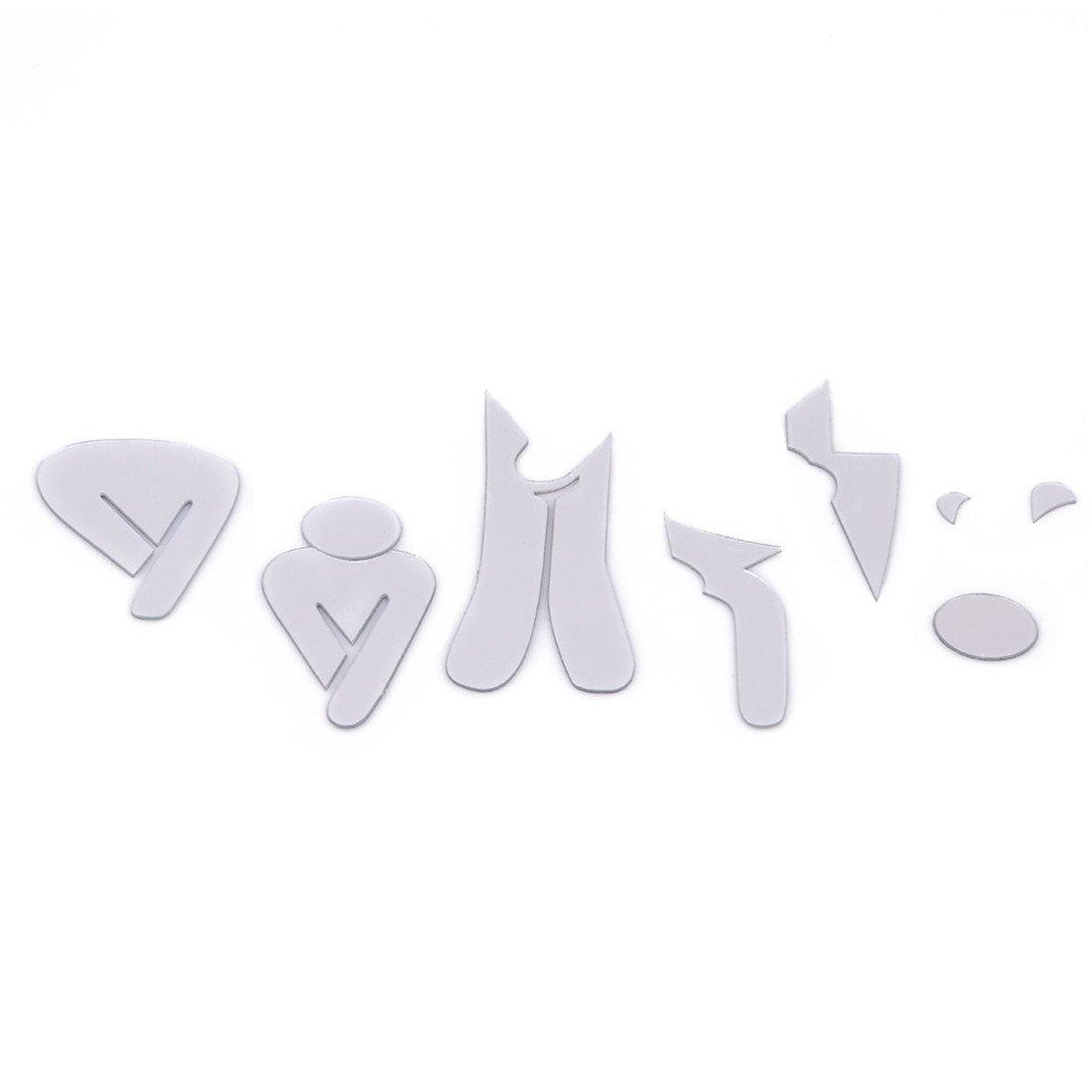 VWH 3D Miroir Surface Autocollant Nom Dr/ôle de Toilette Dentr/ée Signe DIY Toilette Stickers Muraux pour Porte Maison Toilette D/écor Sticker bleu, Style 1