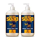 Everyone 3-in-1 Soap for Men, Cedar and Citrus, 32 Ounce, 2 Count