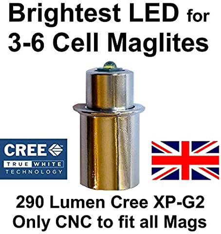 Maglite LED Conversion Upgrade Cree XP-G2 290 Lumen Bulb 3 to 6 D or C Cell Flashlights