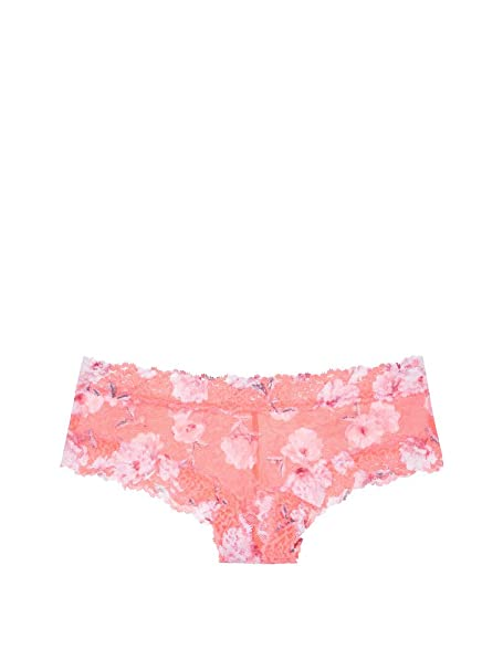 bc2cd666c43b Victoria's Secret Pink Allover lace Cheekster Panty Coral Rose Print  (X-Small)