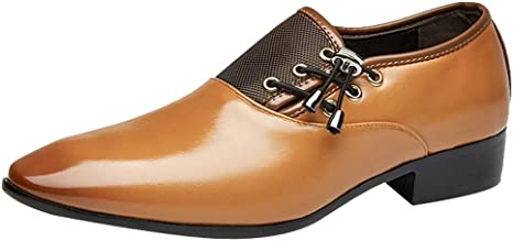 SFE Mens Modern Classic Lace Up Leather Lined Perforated Oxfords Shoes for Men Business Casual Shoes