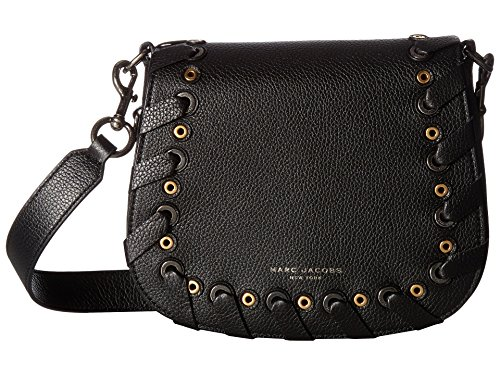 Marc Jacobs Women's Nomad Grommet Small Nomad Saddle Bag, Black, One Size by Marc Jacobs