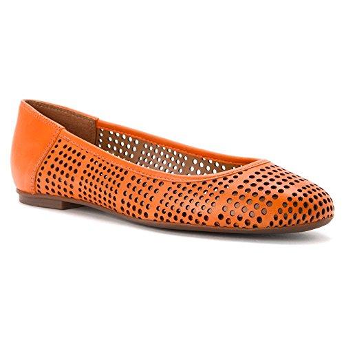 French Sole Womens Naru Orange Leather
