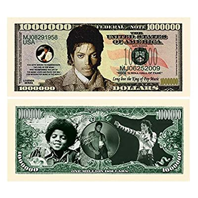 "Michael Jackson "" King of Pop"" Million Dollar Bill Novelty Note (Toy): Toys & Games"