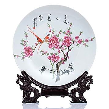 Hankook Porzellan Waterpoint Mount Taohua Festplatte Fächer Ornamente Verzieren  Ihres Hauses Ornamente