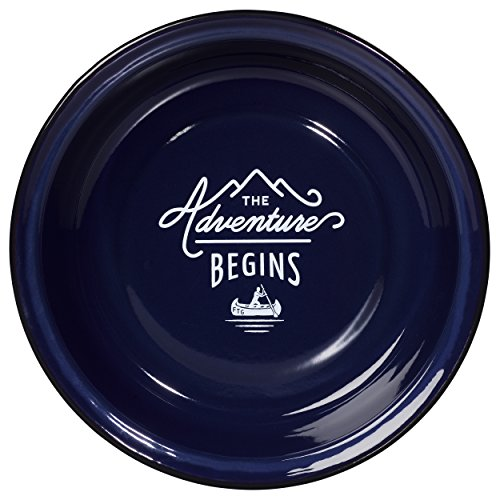 Gentlemens Hardware Adventure Enamel Pasta Bowl, Blue