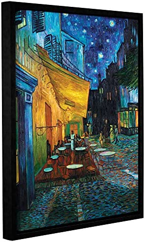 The ArtWall Vincent Vangogh Caf Terrace Floater-Frame Gallery Wrapped 08×10 Canvas Artwork