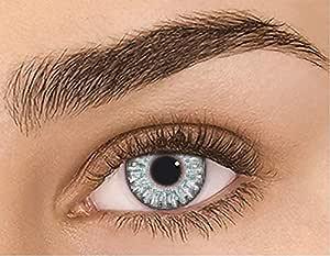 Lentes de moda para hombres y mujeres, lentes de contacto de color natural de 1 año de uso sin graduación FRESH STERLING GRAY (2 lentillas por caja): Amazon.es: Salud y cuidado personal