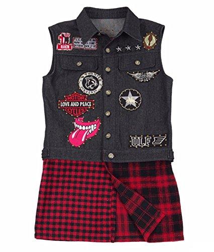 Custom Made Spandex Costumes (Xiao Maomi Black Waistcoat Jacket Suit Halloween Cosplay Costume (Man-XL, Waistcoat))
