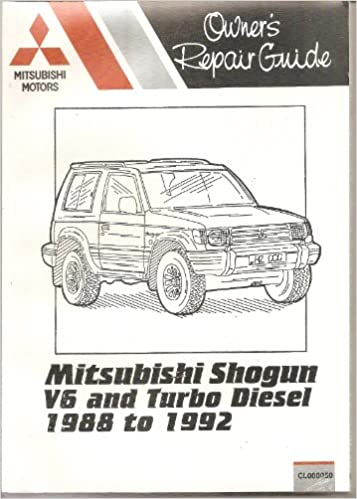 Mitsubishi Shogun Owners Repair Guide: V6 and Turbo Diesel Models, 1988 to 1992 (Pocket Mechanic)