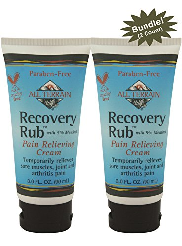 All Terrain Natural Recovery Rub Pain Relieving Cream 3 oz, 2 Count Bundle, Natural Pain Relieving Muscle Cream, Salve for Arthritis, Backpain, Sore Muscles