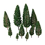 20pcs 4.8cm-16cm Layout Model Trees Train Wargame Scenery Diorama 1:50-400 O HO N Z Scale