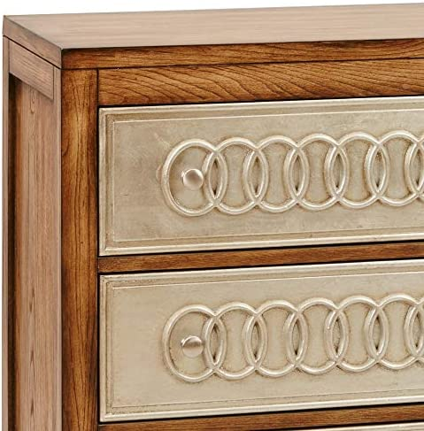 Madison Park Erding Silver Leaf Rings Chest, Multi