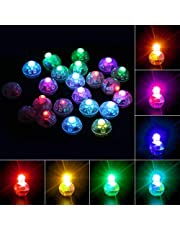 Richaa 100 stuks knipperende ballonnen licht, mini led ballon lichten papier lantaarns lichten voor thuis bruiloft verjaardag Halloween kerstfeest decoratie