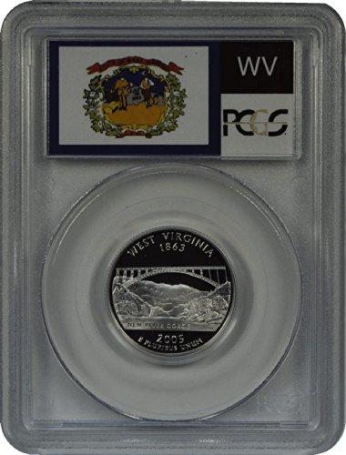 - 2005 S West Virginia Silver Statehood Quarter DCAM PCGS PR-69