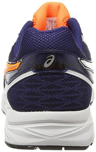 ASICS Gel-Contend 3 - Zapatillas para hombre Blanco (White/Hot Orange/Indigo Blue 0130)