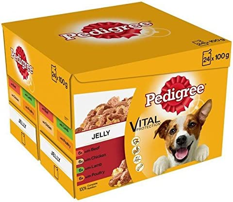 Pedigree Pouches Meat Selection in Jelly 24 x 100g (PACK OF 6) – Dogs Corner