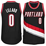 Men's Damian Lillard #0 Basketball Road Jersey Black