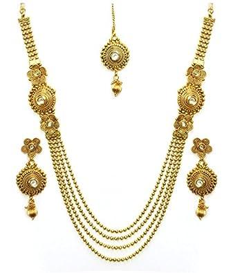 Gold set jewellery